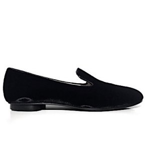 a228af0b Franca loafer i velour, sort